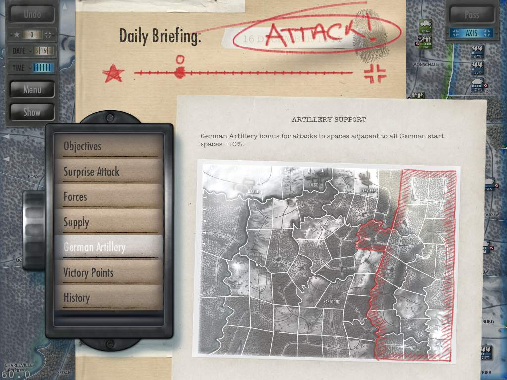 Battle of the Bulge Briefing Artillery Early Version
