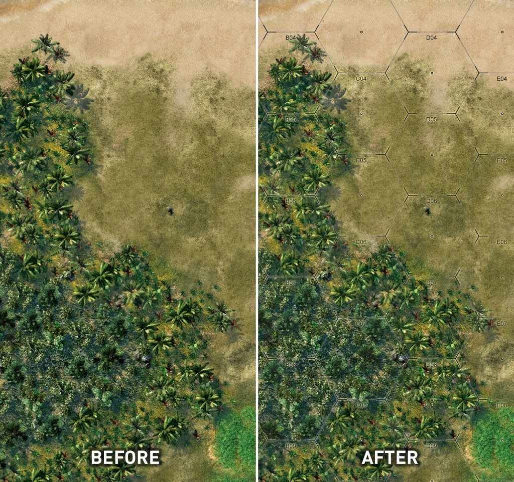 Guadalcanal before and after